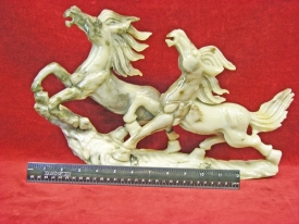 CHINESE HORSE CARVING #CH19
