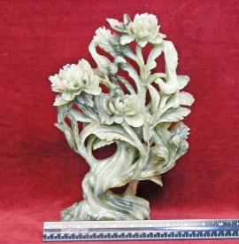 CHINESE CARVING OF A FLOWER TREE