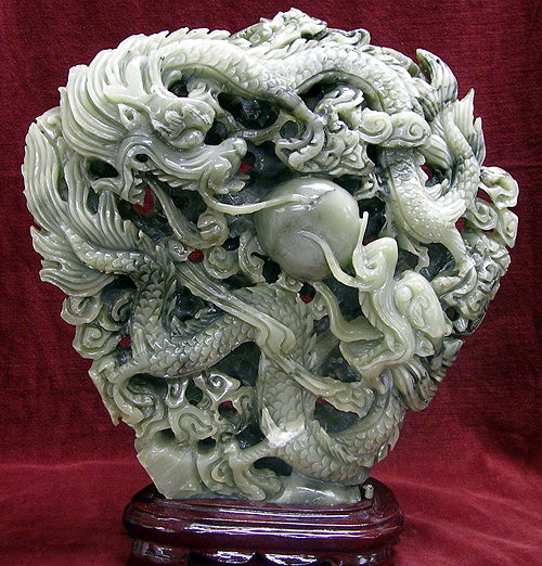 Chinese stone carvings strictly minerals