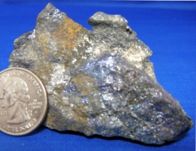 BORNITE WITH NATIVE SILVER #17
